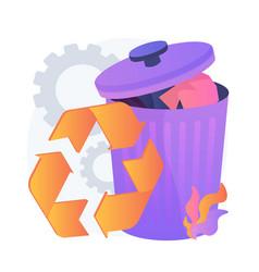 Bin for recyclable waste concept metaphor vector