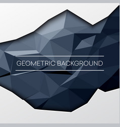 black abstract low poly polygonal triangular vector image