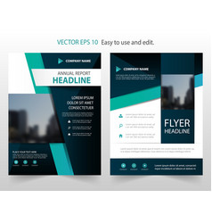 Blue black abstract annual report brochure design vector