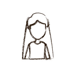 Blurred silhouette caricature faceless half body vector