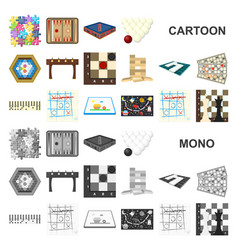 Board game cartoon icons in set collection for vector