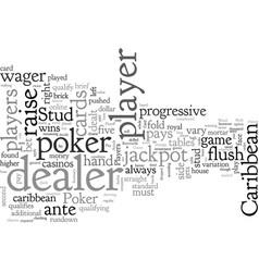 Caribbean stud poker vector
