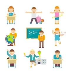 Children At School vector image