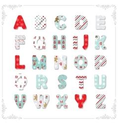 Christmas textile font vector