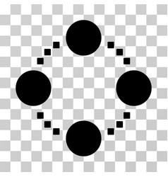 Circular relations icon vector