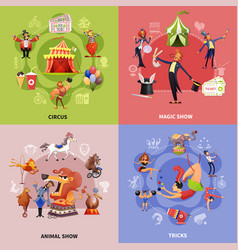 circus cartoon concept vector image