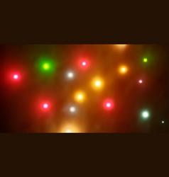 colorful defocused bokeh lights background vector image