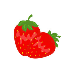 colorful red strawberry vector image