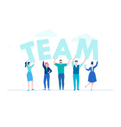 creative team - flat design style colorful vector image