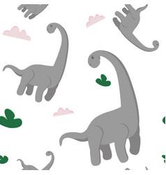 dino seamless pattern vector image