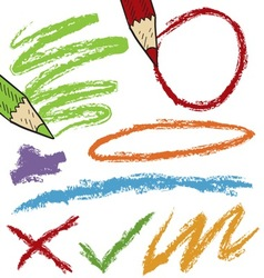 doodle colored pencil marks vector image