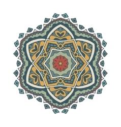 Doodle mandala design vector