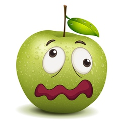 Dull apple smiley vector