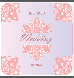 Elegant premade logo feminine pink branding vector