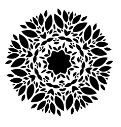 elements for design stylized flower mandala vector image