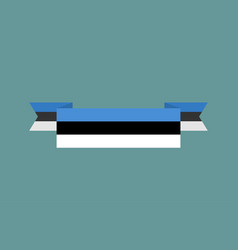 Estonia flag ribbon isolated estonian tape banner vector