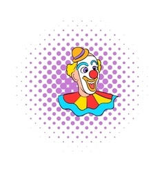 Face clown comics icon vector