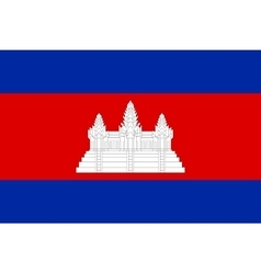 Flag of cambodia correct size and colors vector