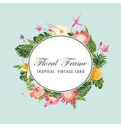 Floral Frame Card vector image
