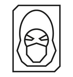 Hacker avatar web internet icons vector image