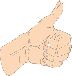 hand thumb up icon flat vector image