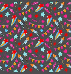 Happy birthday party seamless pattern birthday vector