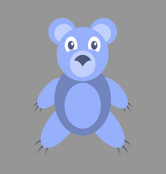 Icon in flat design toy bear vector