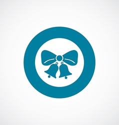 Jingle bells icon bold blue circle border vector