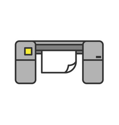 Large format printer color icon vector