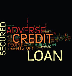 Let your dreams fly with adverse credit secured vector