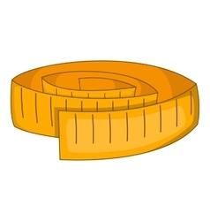 Measuring tape icon cartoon style vector image