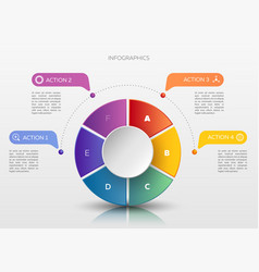 modern infographic concept vector image