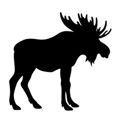 Moose silhouette 001 vector