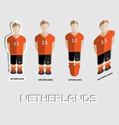 Netherlands Soccer Team Sportswear Template vector