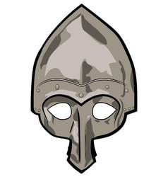 Old slavic helmet vector