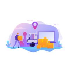 online delivery service fast transportation vector image