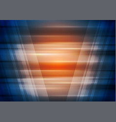 Orange and blue technology futuristic background vector