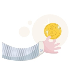 People love money and gold vector image