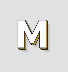 pop art logo letter m vector image