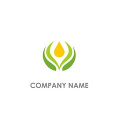 pure organic bio logo vector image