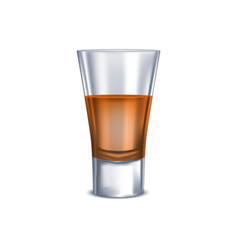 realistic detailed 3d full shot glass vector image