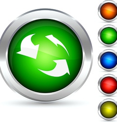 Recycling button vector