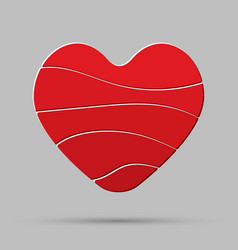 red heart element romance valentine day concept vector image