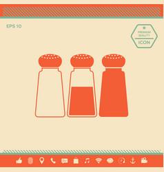salt or pepper shakers - set vector image