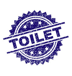 Scratched textured toilet stamp seal vector