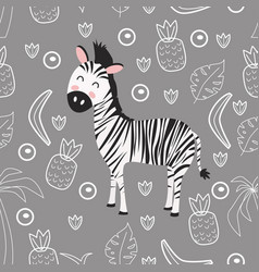 Seamless pattern with zebra vector
