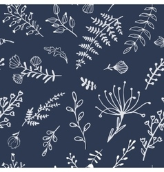 Seamless texture with floral elements Fabric vector image