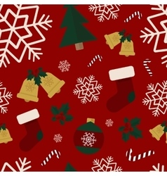 Seamless winter pattern christmas background vector