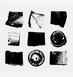set monochrome abstract grunge textures vector image