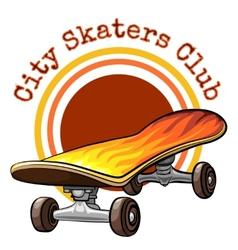 skateboard emblem vector image